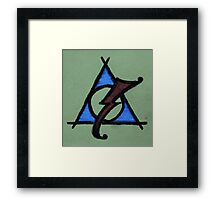 Green, Blue and Red Deathly Hallows Scar Framed Print