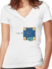 My Blue Doggy Women's Fitted V-Neck T-Shirt