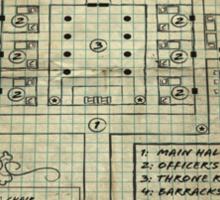 Dungeon Scrawl (Small Print) Sticker