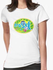 Brasil 2014 Soccer Football Ball Womens Fitted T-Shirt