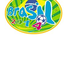 Brasil 2014 Soccer Football Ball by patrimonio