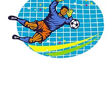 Goalie Soccer Football Player Retro by patrimonio
