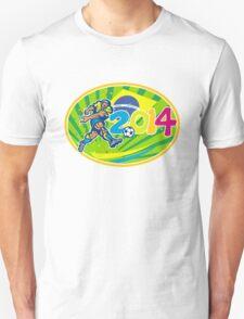 Brazil 2014 Soccer Football Player Kicking Ball Unisex T-Shirt