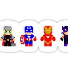 Pixel Avengers Line Up Sticker
