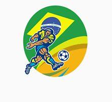 Brazil Soccer Football Player Kicking Ball Retro Unisex T-Shirt