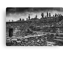 The Stone House - monochrome Canvas Print