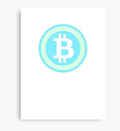 Bitcoin Blue Lite Canvas Print