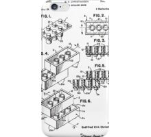 Lego Brick Toy Patent iPhone Case/Skin