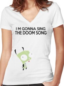 I'm gonna Sing the Doom Song  Women's Fitted V-Neck T-Shirt
