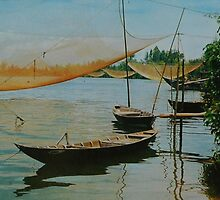 Hoi an river in the afternoon by Richy68