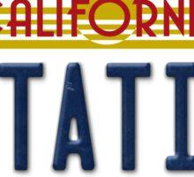 Back to the future Delorean License Plate Sticker