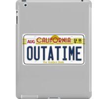 Back to the future Delorean License Plate iPad Case/Skin