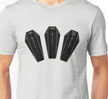 Minimalistic dies, died, will die. Unisex T-Shirt