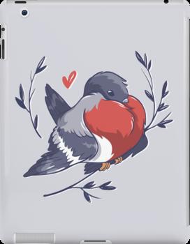 Red Heart Bird by hbitik