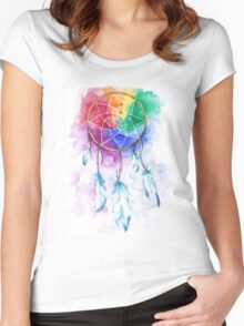 rainbow catcher Women's Fitted Scoop T-Shirt