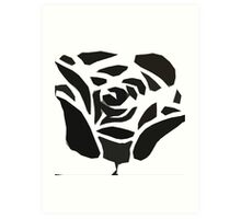 Tribal Rose Art Print