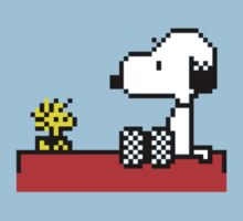 Snoopy and Woodstock Pixel Art by Danyashal