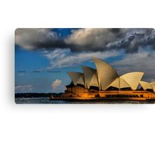 Sunset over an Icon ( Sydney Opera House) Canvas Print
