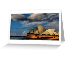 Sunset over an Icon ( Sydney Opera House) Greeting Card