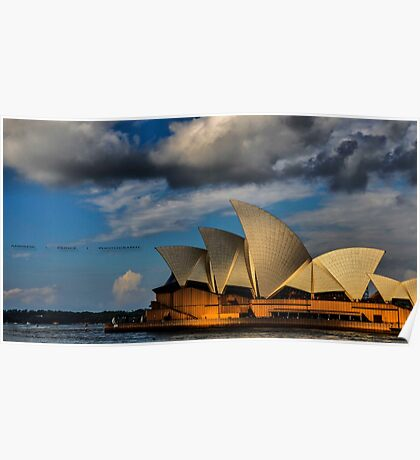 Sunset over an Icon ( Sydney Opera House) Poster