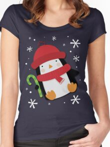 Holiday Penguin Women's Fitted Scoop T-Shirt