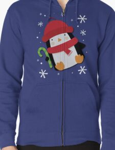 Holiday Penguin Zipped Hoodie