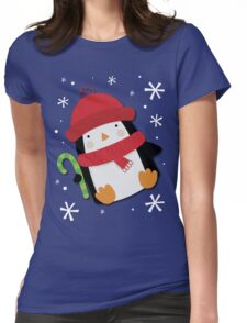 Holiday Penguin Womens Fitted T-Shirt