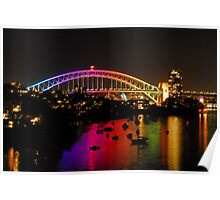 Vivid - Sydney Harbour Bridge Poster