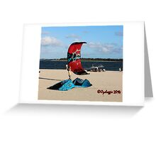 On the beach at Dolls Point  Greeting Card