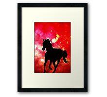 Horse BOKEH!! Canvas Texture Prints Framed Print