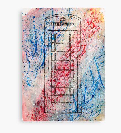 Telephone Box Canvas Print