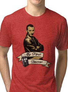 Doctor Who - My first Doctor (Who) Ninth 9th Christopher Eccleston Tri-blend T-Shirt