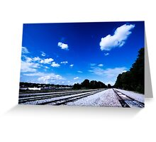 Railroad Take Me Away Greeting Card