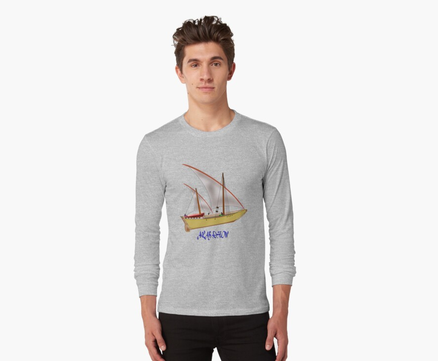 An Ancient Arab Dhow T-shirt by Dennis Melling