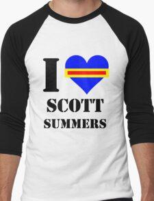 I Love / Heart Scott Summers Men's Baseball ¾ T-Shirt