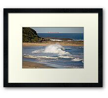 Natures Raw Power - Catherine Hill Bay Framed Print