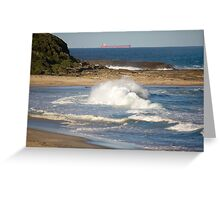 Natures Raw Power - Catherine Hill Bay Greeting Card