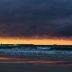 Dusk over Sennen Beach by PlanetPenwith