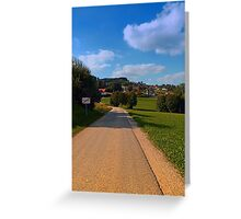 The end of the village   landscape photography Greeting Card