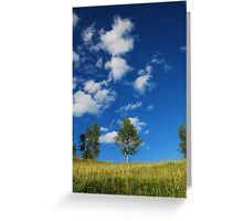 Trees with Cumulus Fractus Greeting Card