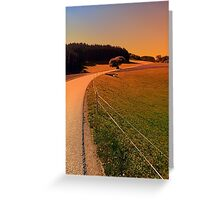 Hiking trip in summer time   landscape photography Greeting Card