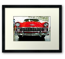Classic Red Chevrolet Auto Show Framed Print