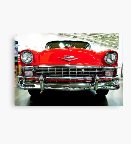 Classic Red Chevrolet Auto Show Canvas Print