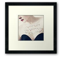 Language is the skin of the soul. Framed Print