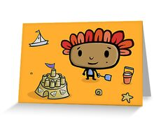 The Sandcastle Greeting Card