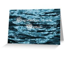 Baptism Card Greeting Card