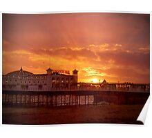 Big Sky - Brighton Pier - HDR Poster