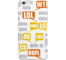 Mazes and patterns: speech bubbles iPhone Case/Skin