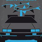No183 My Back to the Future minimal movie poster-part II by Chungkong