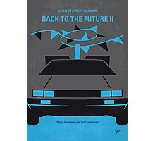 No183 My Back to the Future minimal movie poster-part II Photographic Print